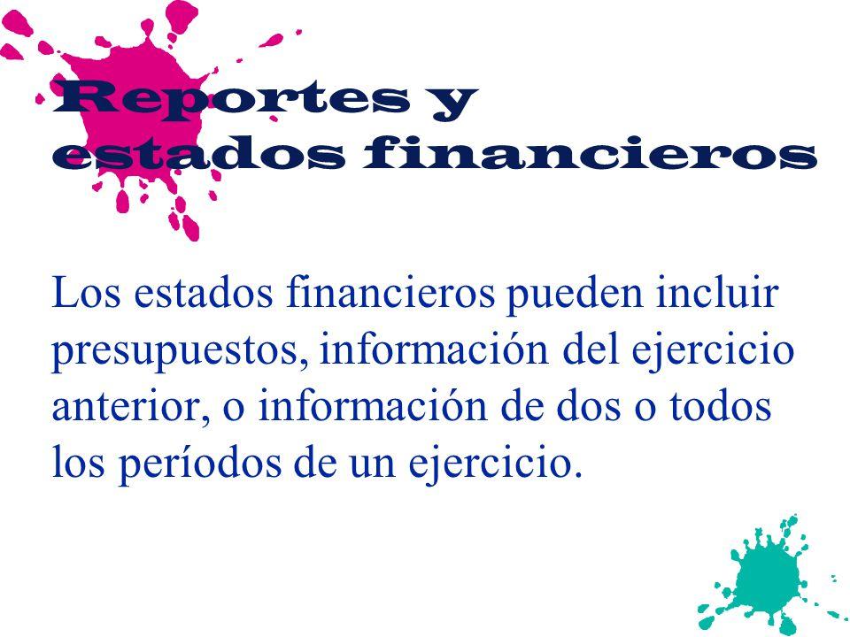 Reportes y estados financieros