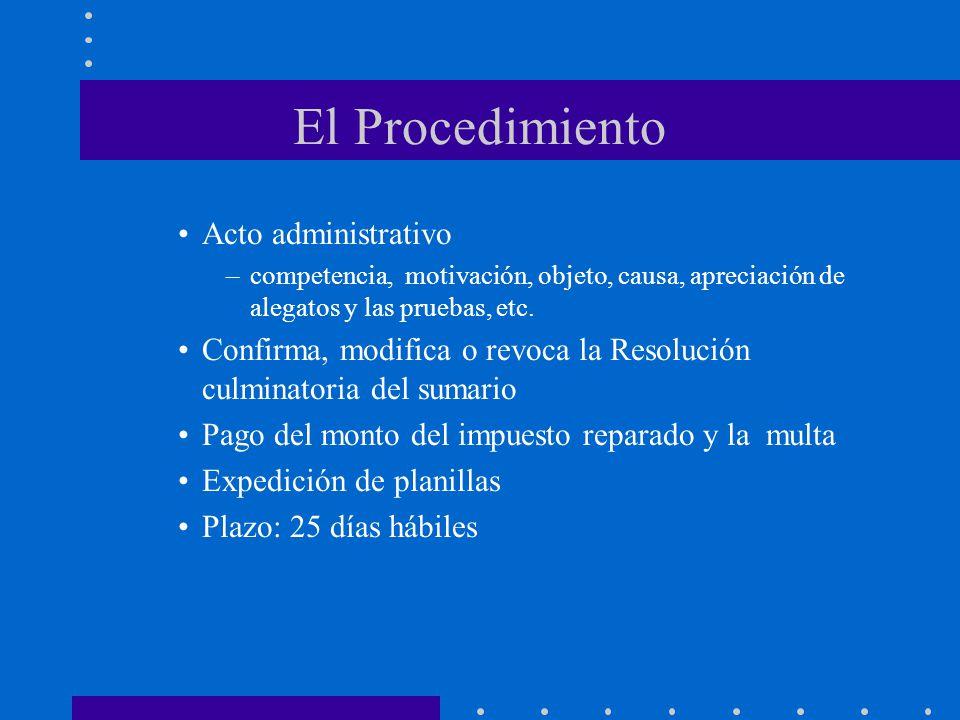 El Procedimiento Acto administrativo