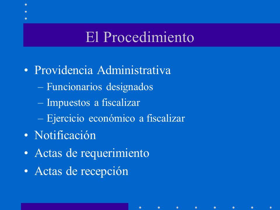 El Procedimiento Providencia Administrativa Notificación