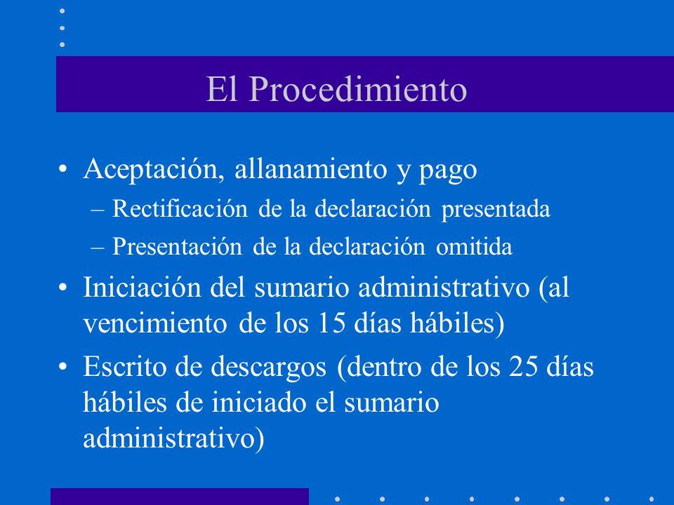 El Procedimiento Aceptación, allanamiento y pago