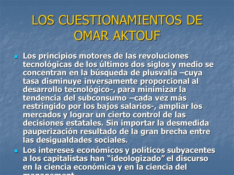 LOS CUESTIONAMIENTOS DE OMAR AKTOUF
