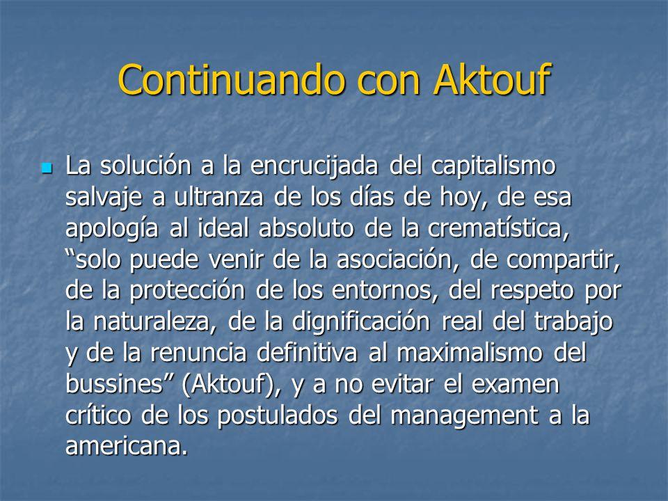 Continuando con Aktouf