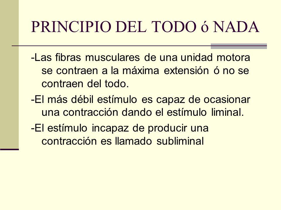 PRINCIPIO DEL TODO ó NADA