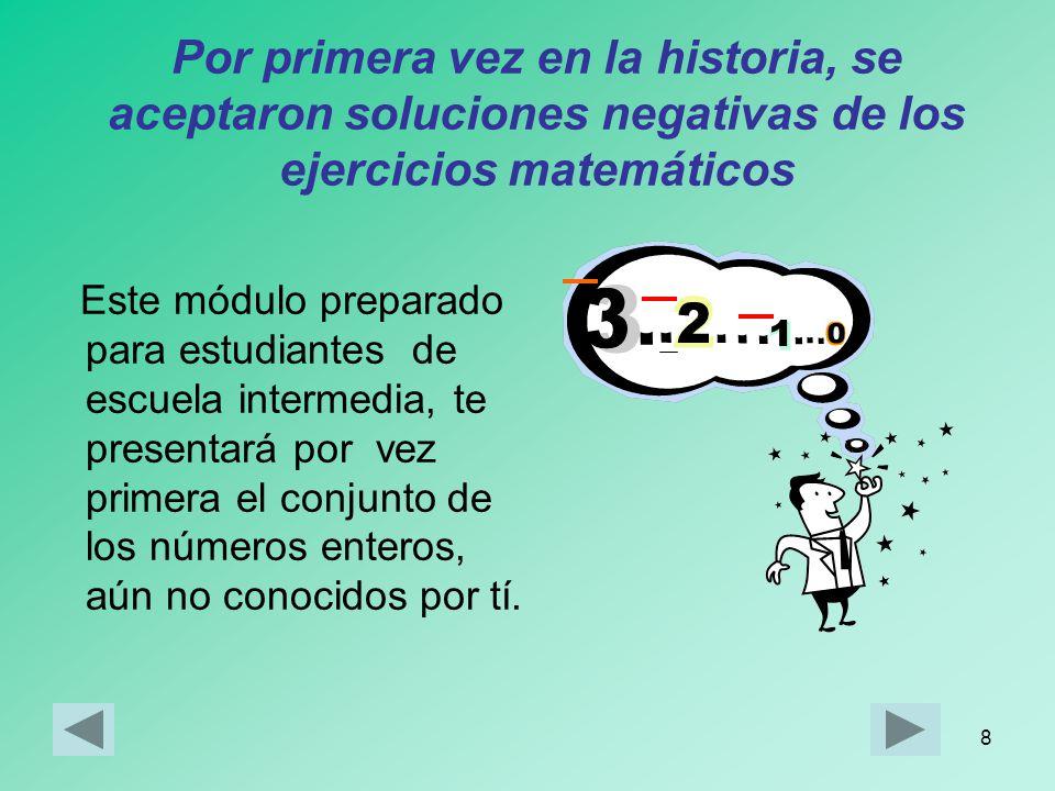 Por primera vez en la historia, se aceptaron soluciones negativas de los ejercicios matemáticos
