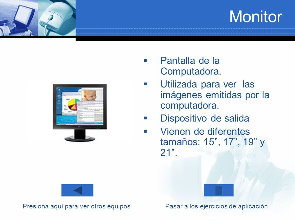 Monitor Pantalla de la Computadora.