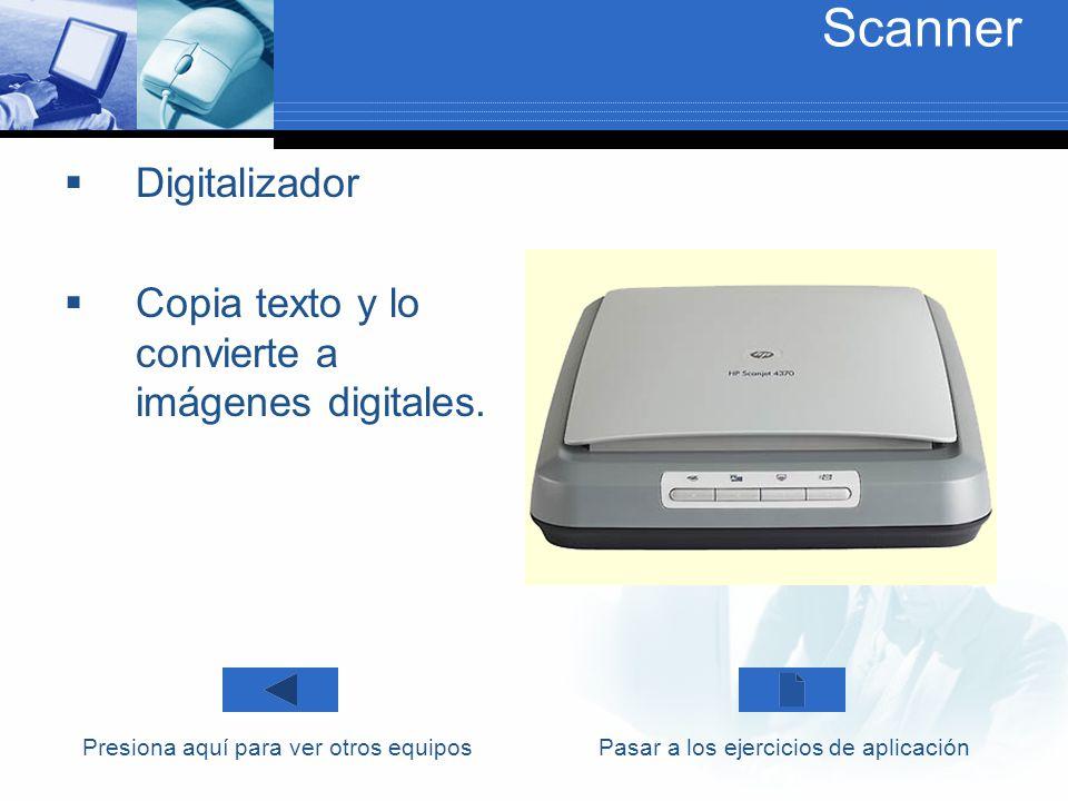 Scanner Digitalizador Copia texto y lo convierte a imágenes digitales.