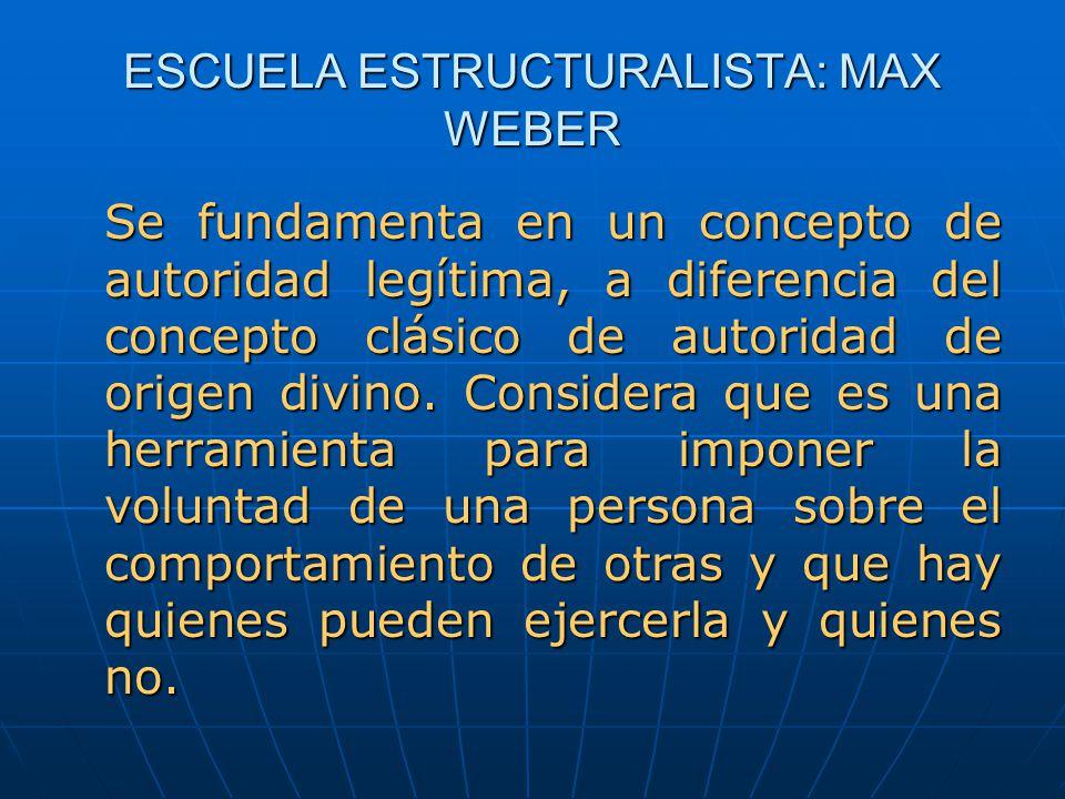 ESCUELA ESTRUCTURALISTA: MAX WEBER