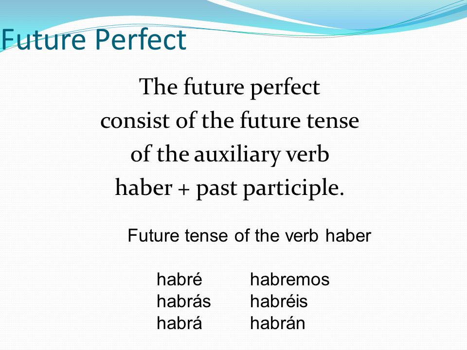 Future tense of the verb haber