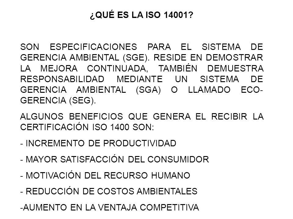 ¿QUÉ ES LA ISO 14001