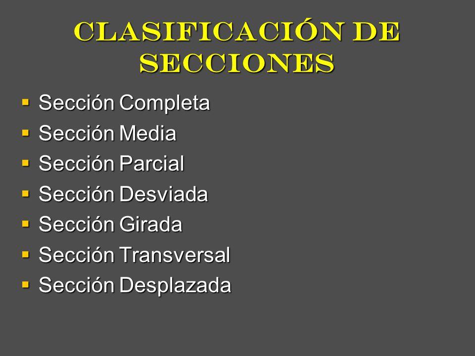 clasificación de secciones