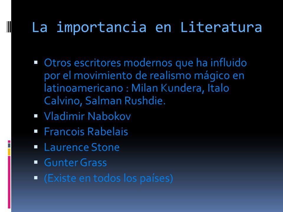 La importancia en Literatura