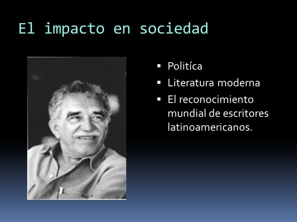El impacto en sociedad Politíca Literatura moderna