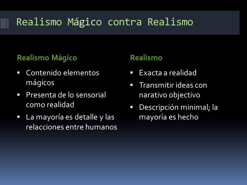 Realismo Mágico contra Realismo