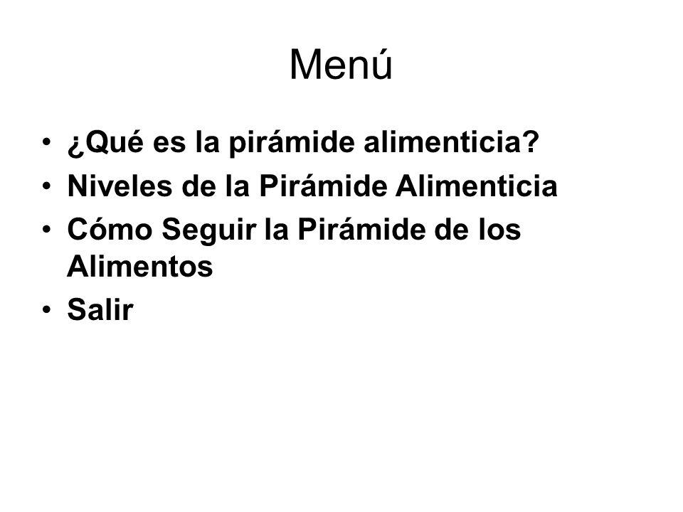 Menú ¿Qué es la pirámide alimenticia