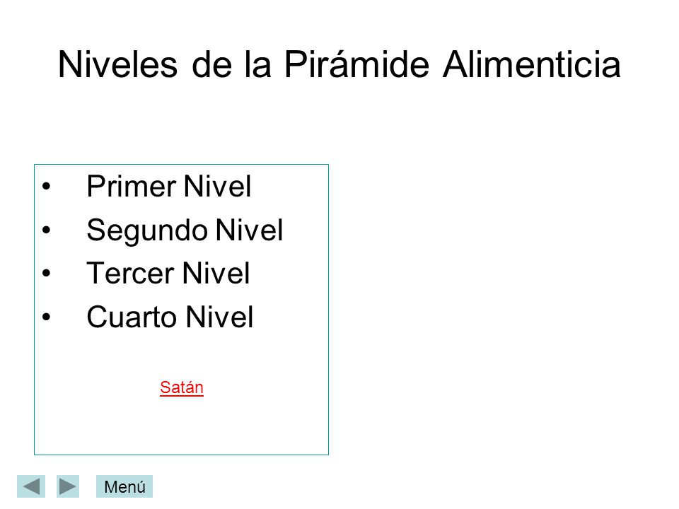 Niveles de la Pirámide Alimenticia