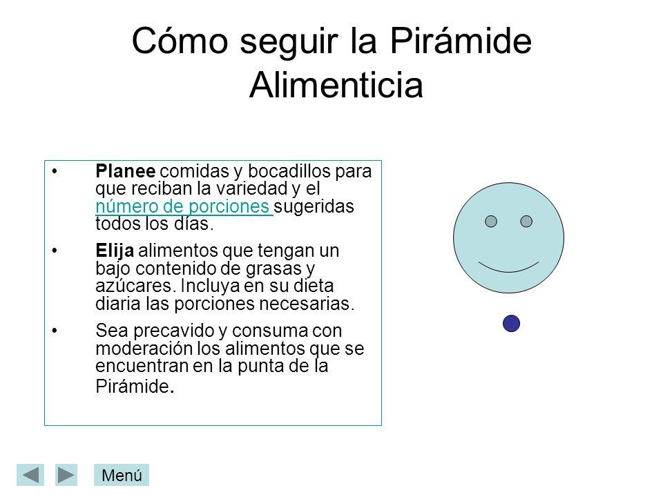 Cómo seguir la Pirámide Alimenticia