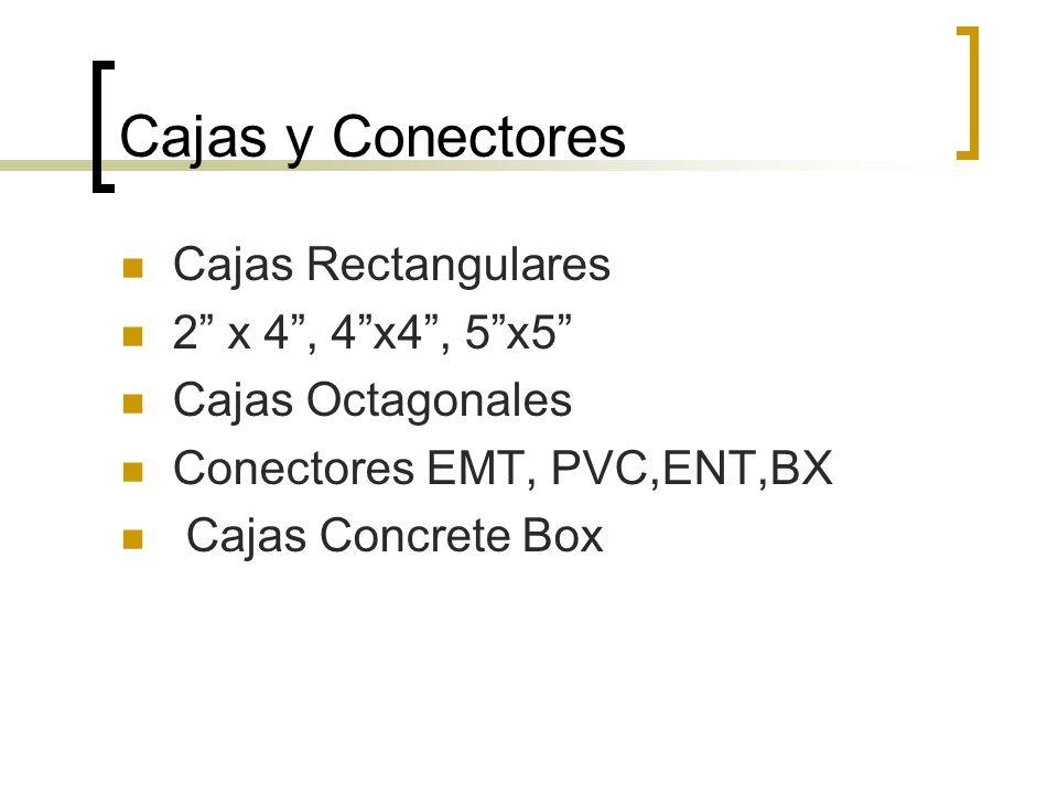 Cajas y Conectores Cajas Rectangulares 2 x 4 , 4 x4 , 5 x5