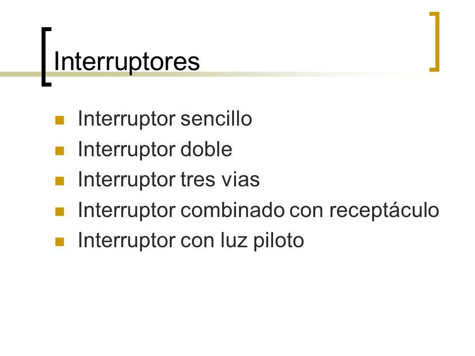 Interruptores Interruptor sencillo Interruptor doble