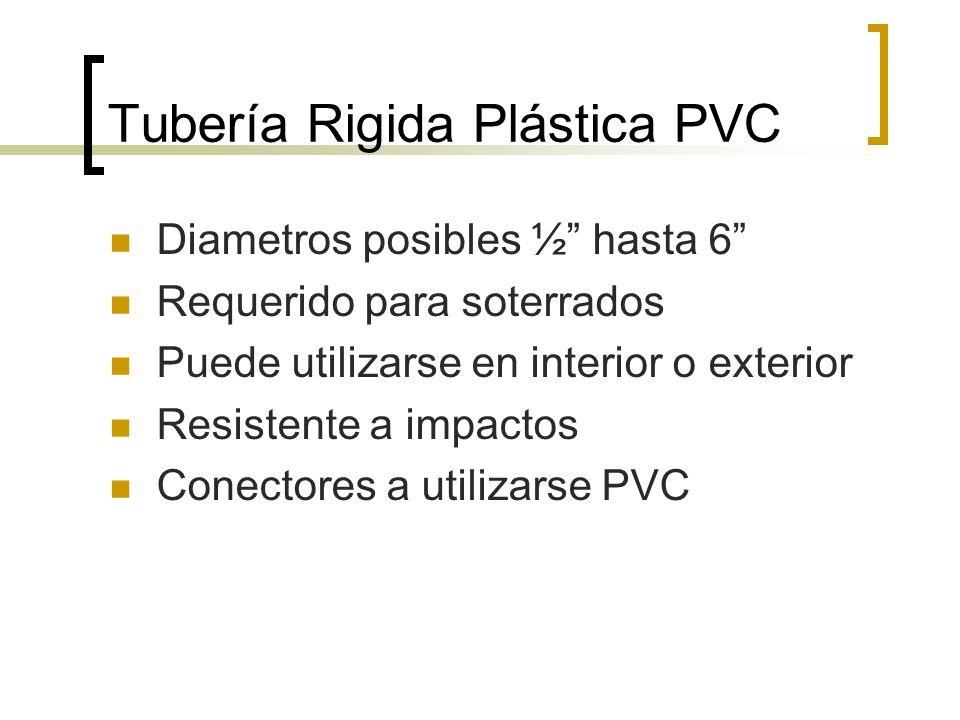 Tubería Rigida Plástica PVC