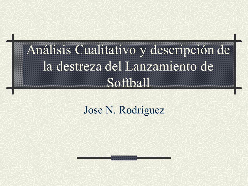 Análisis Cualitativo y descripción de la destreza del Lanzamiento de Softball