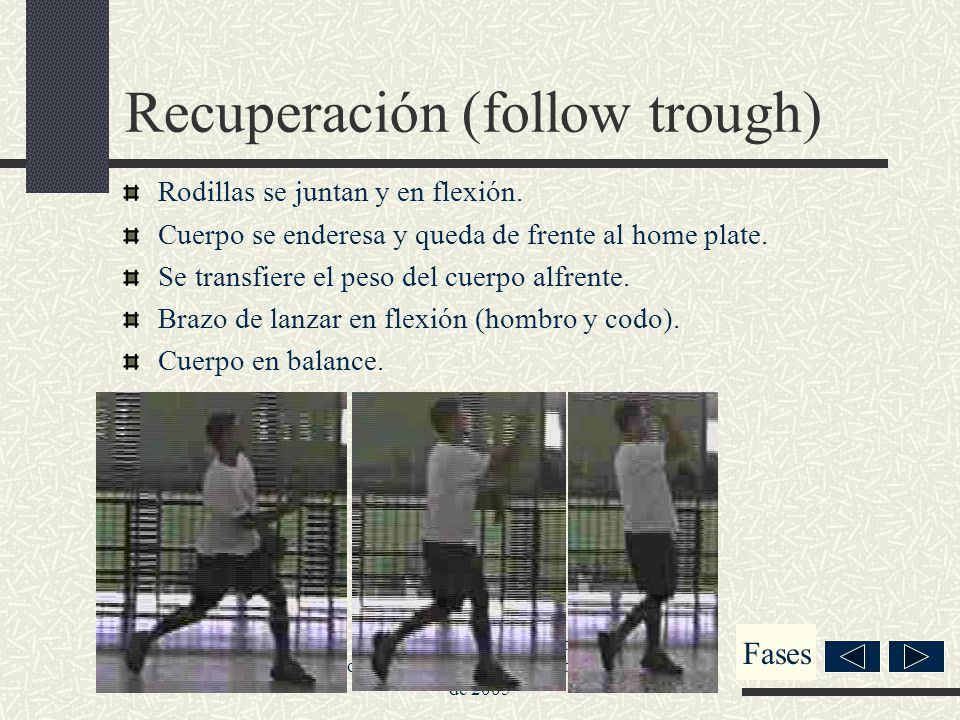 Recuperación (follow trough)