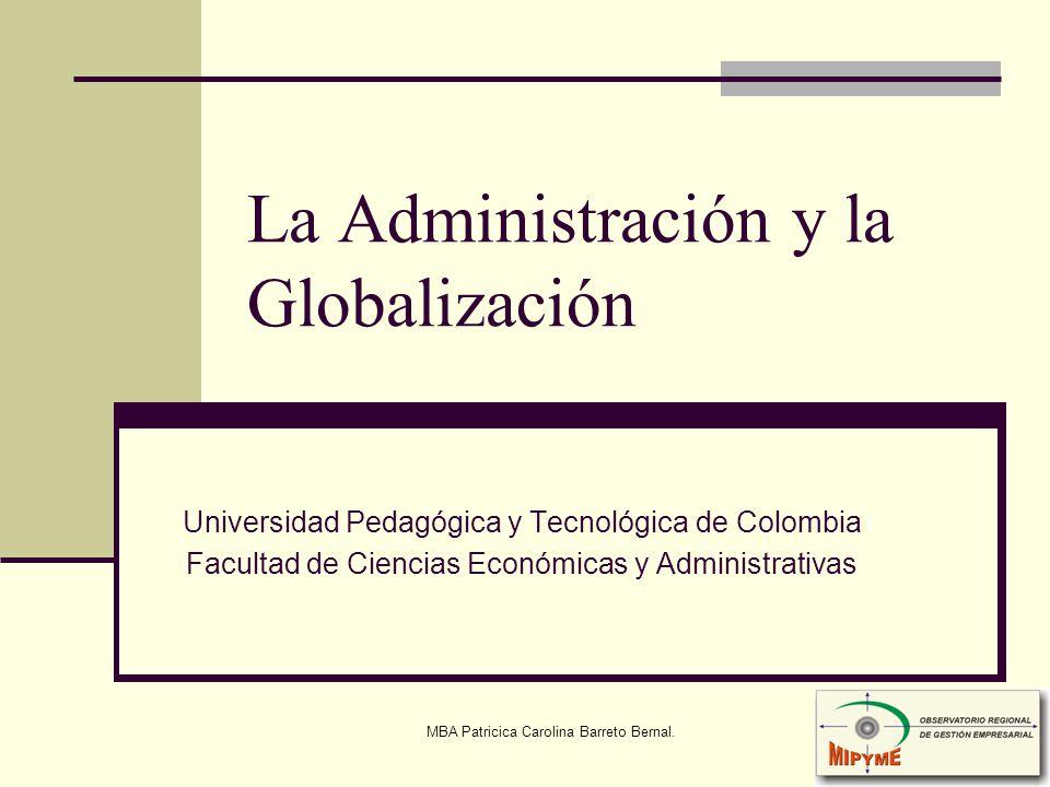 La Administración y la Globalización