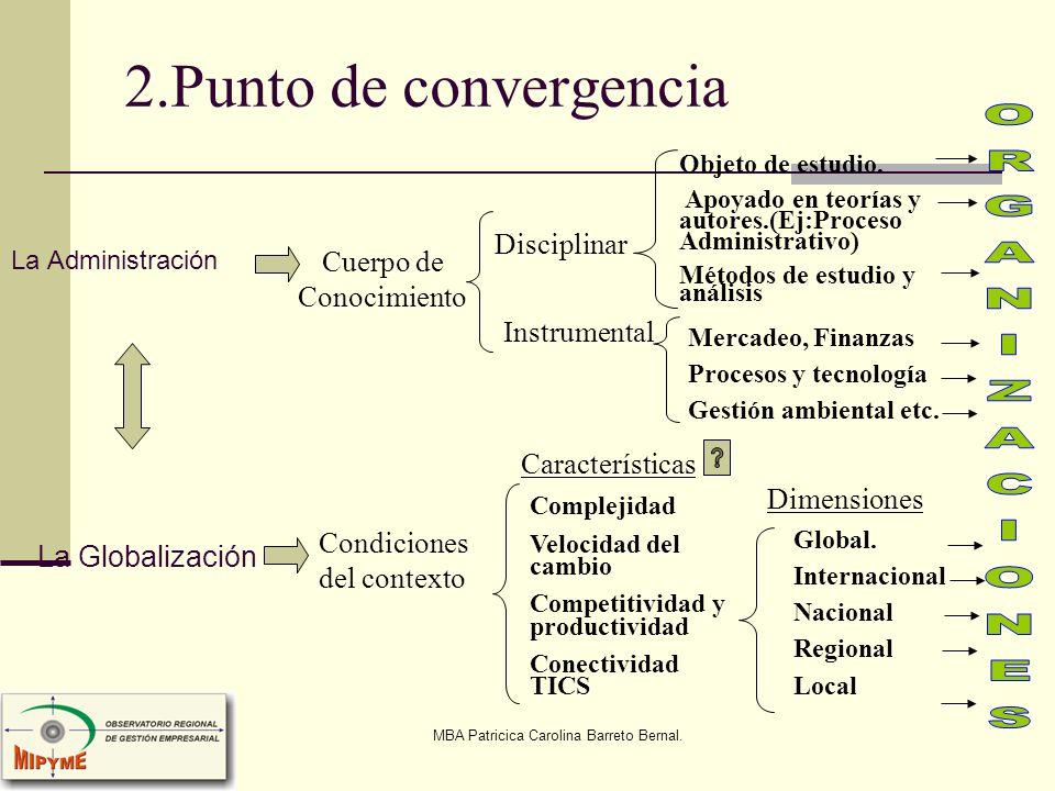 2.Punto de convergencia ORGANIZACIONES Disciplinar