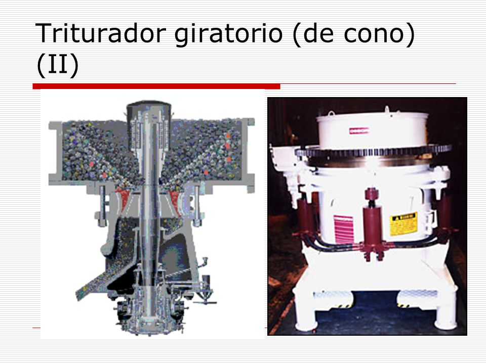 Triturador giratorio (de cono) (II)