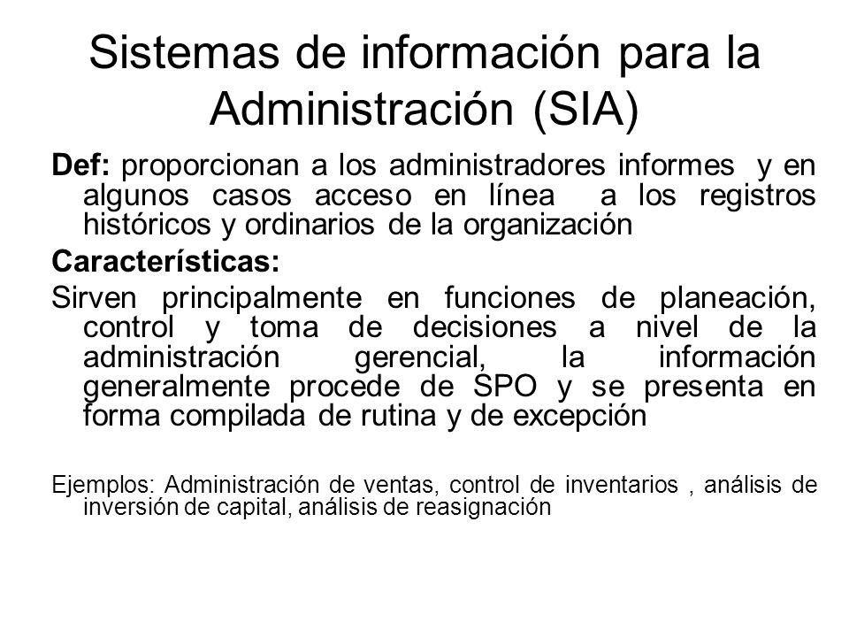 Sistemas de información para la Administración (SIA)