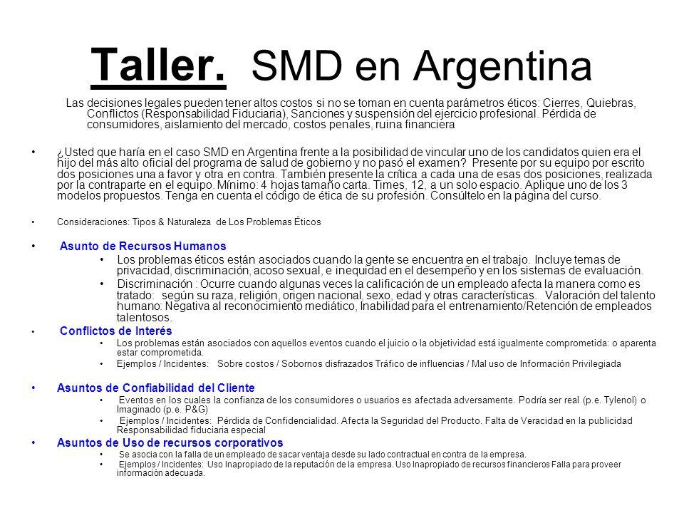 Taller. SMD en Argentina