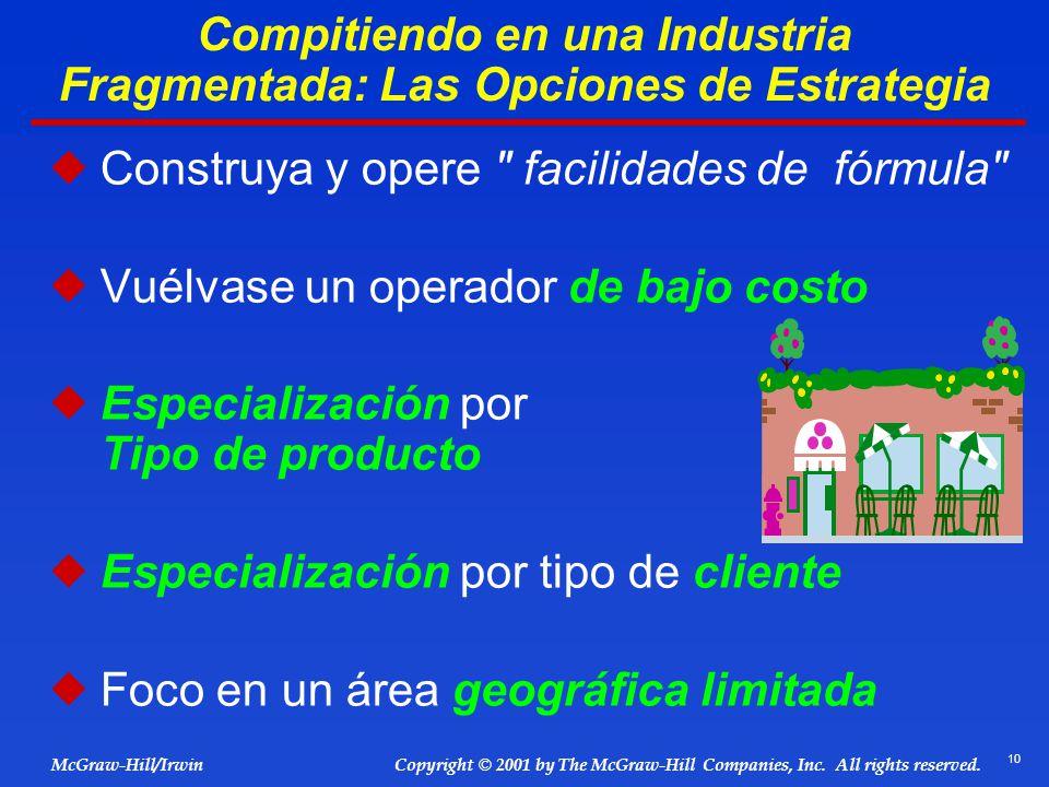 Compitiendo en una Industria Fragmentada: Las Opciones de Estrategia