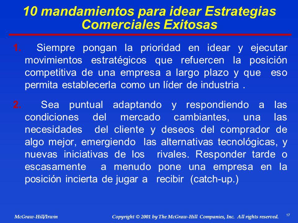 10 mandamientos para idear Estrategias Comerciales Exitosas
