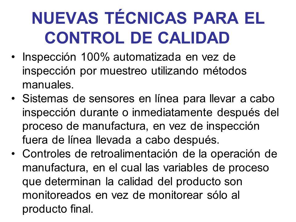 NUEVAS TÉCNICAS PARA EL CONTROL DE CALIDAD