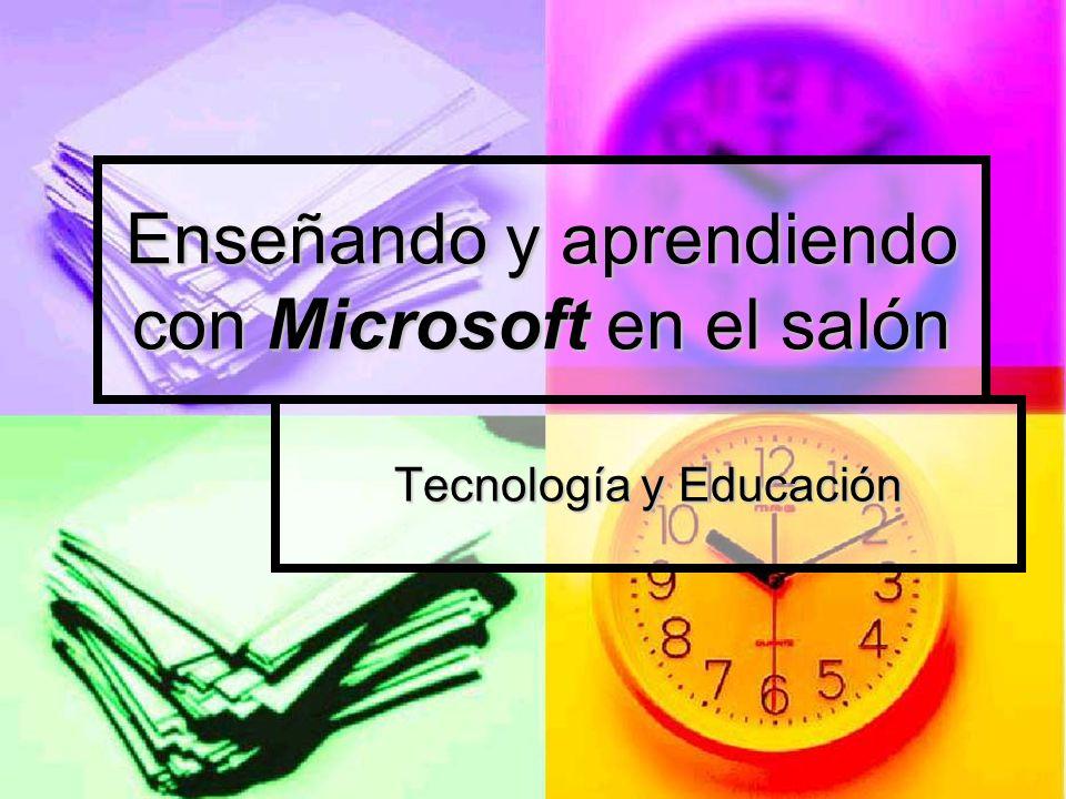 Enseñando y aprendiendo con Microsoft en el salón
