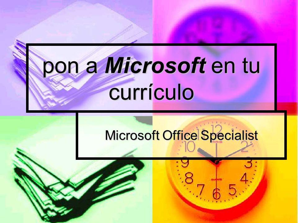 pon a Microsoft en tu currículo