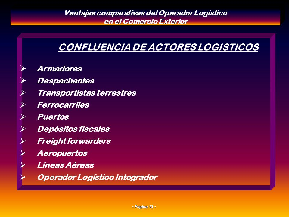 CONFLUENCIA DE ACTORES LOGISTICOS