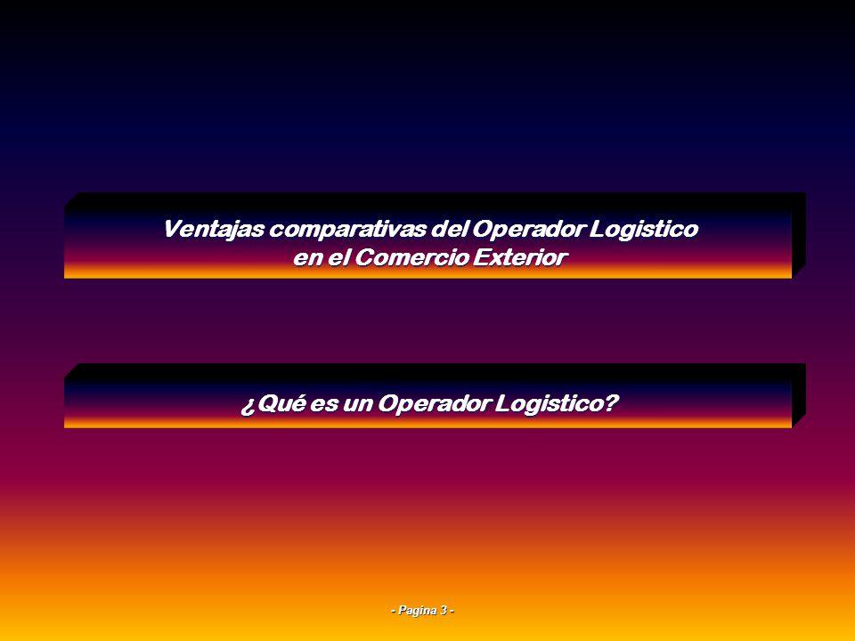 Ventajas comparativas del Operador Logistico en el Comercio Exterior