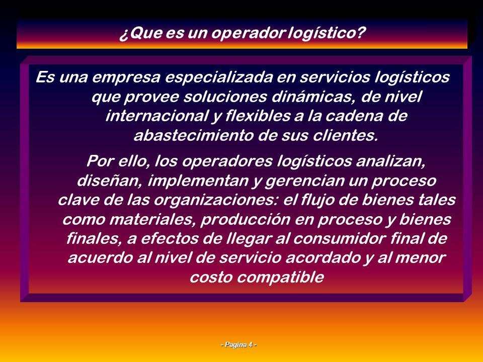 ¿Que es un operador logístico