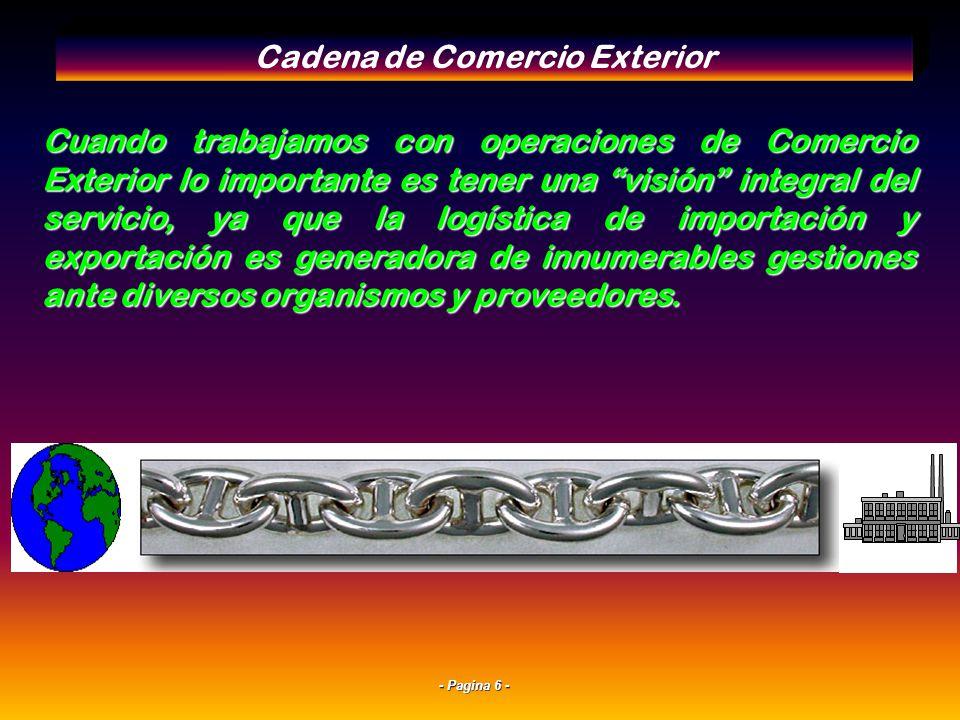 Cadena de Comercio Exterior
