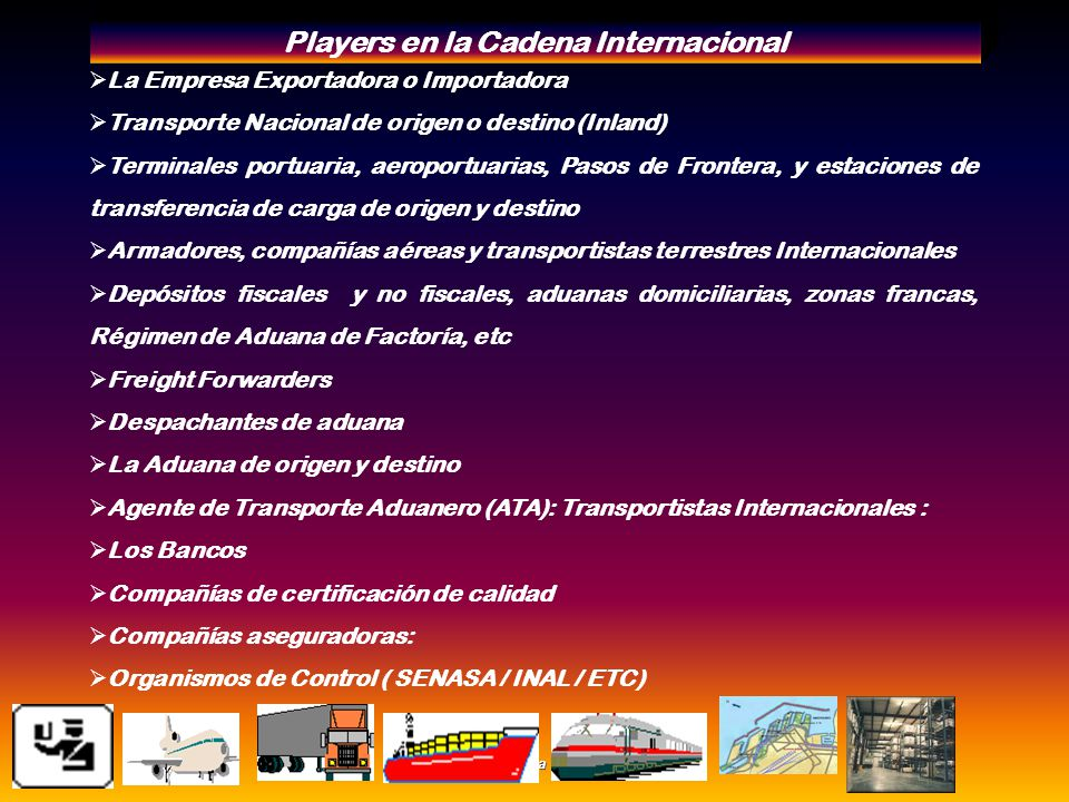 Players en la Cadena Internacional