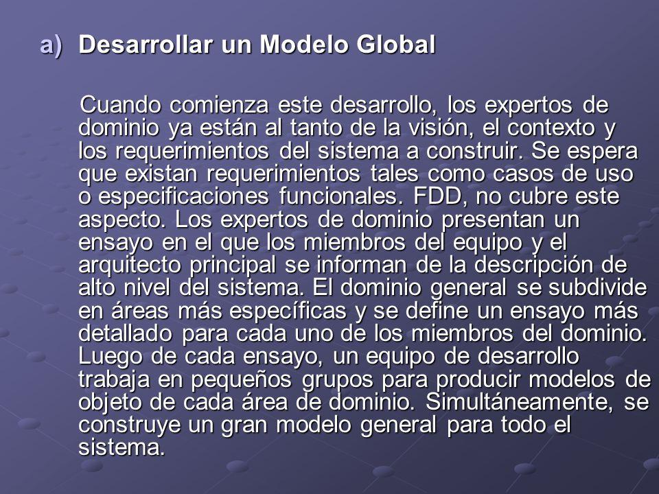 Desarrollar un Modelo Global