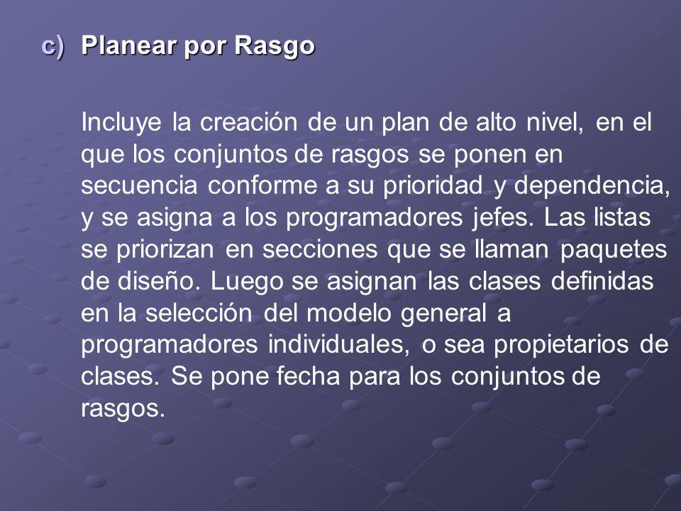 Planear por Rasgo