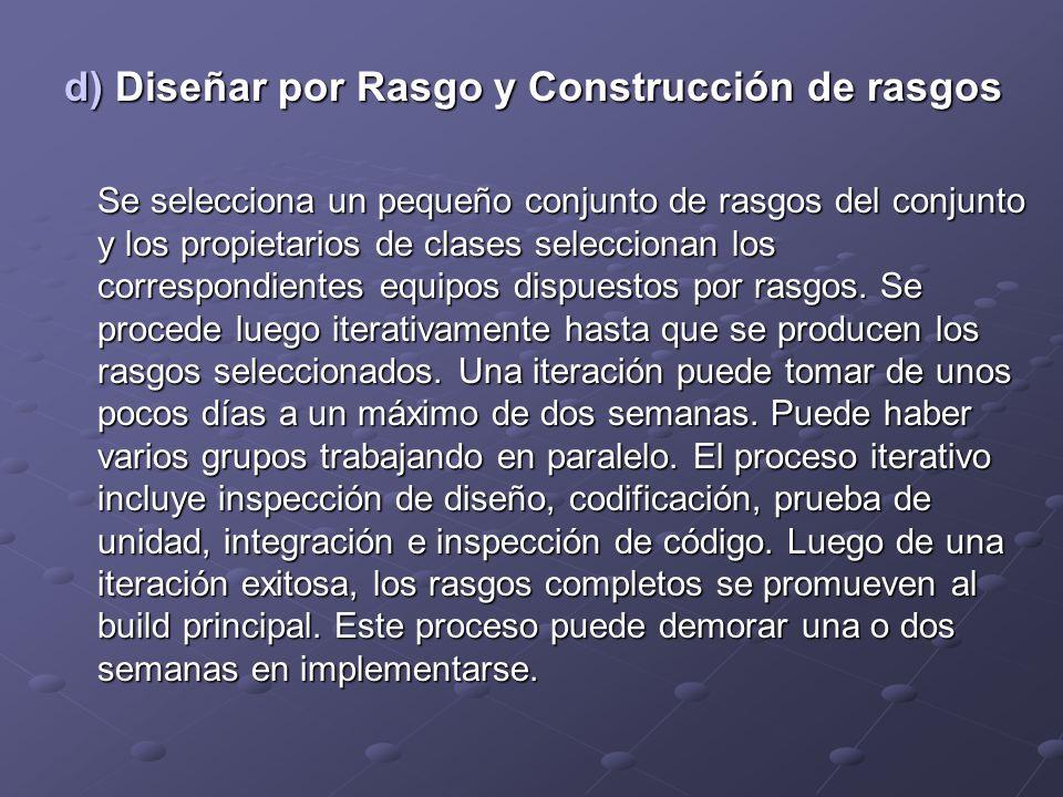 d) Diseñar por Rasgo y Construcción de rasgos
