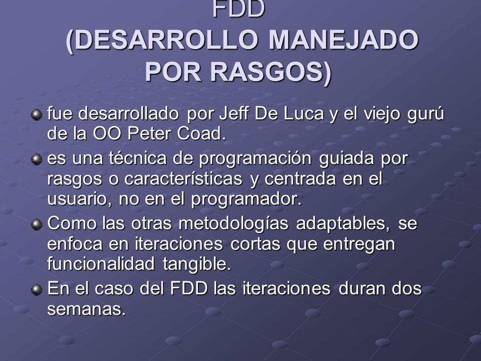 FDD (DESARROLLO MANEJADO POR RASGOS)