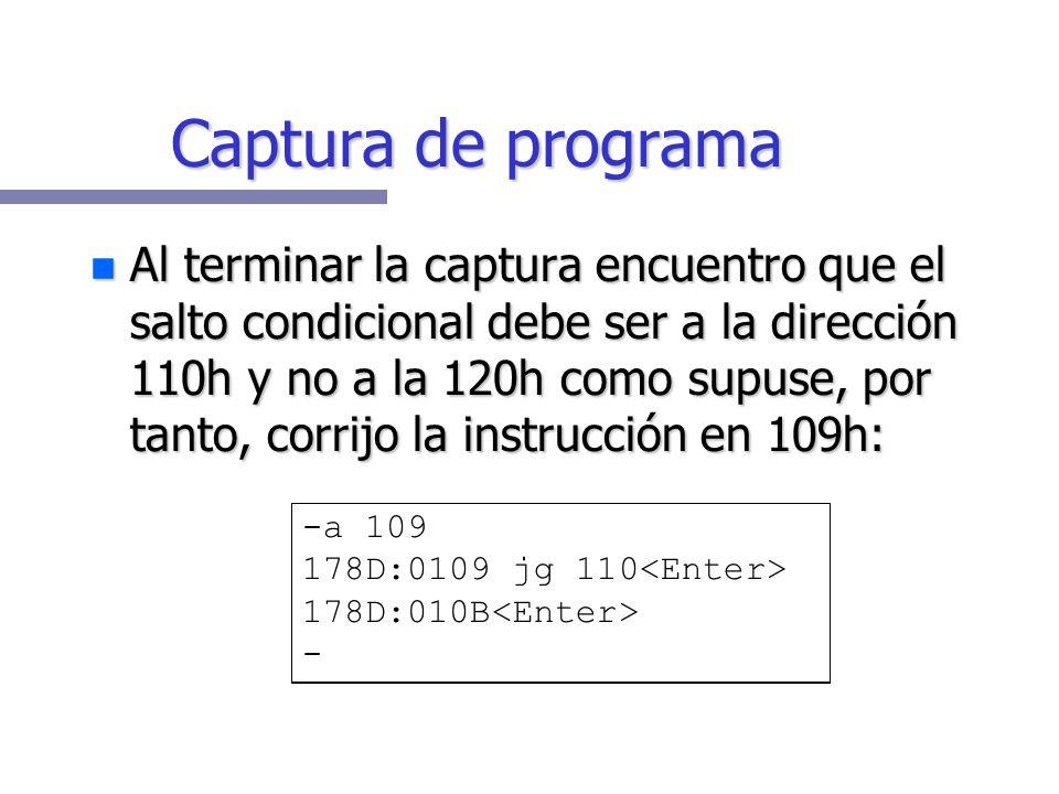 Captura de programa
