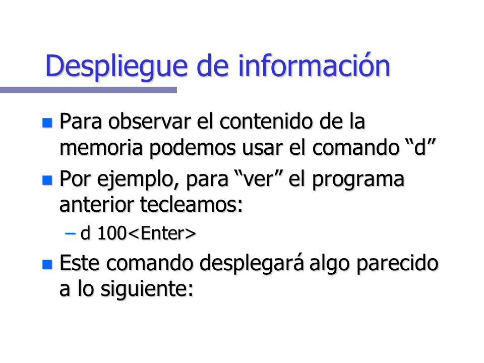 Despliegue de información