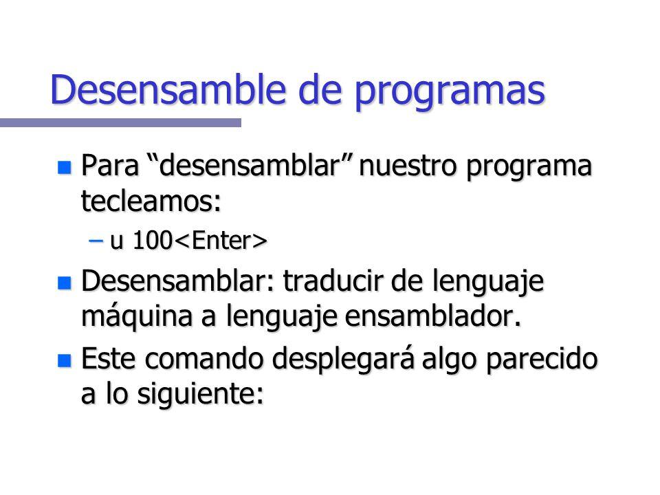 Desensamble de programas