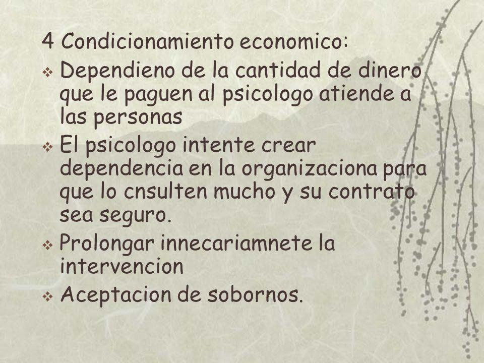 4 Condicionamiento economico: