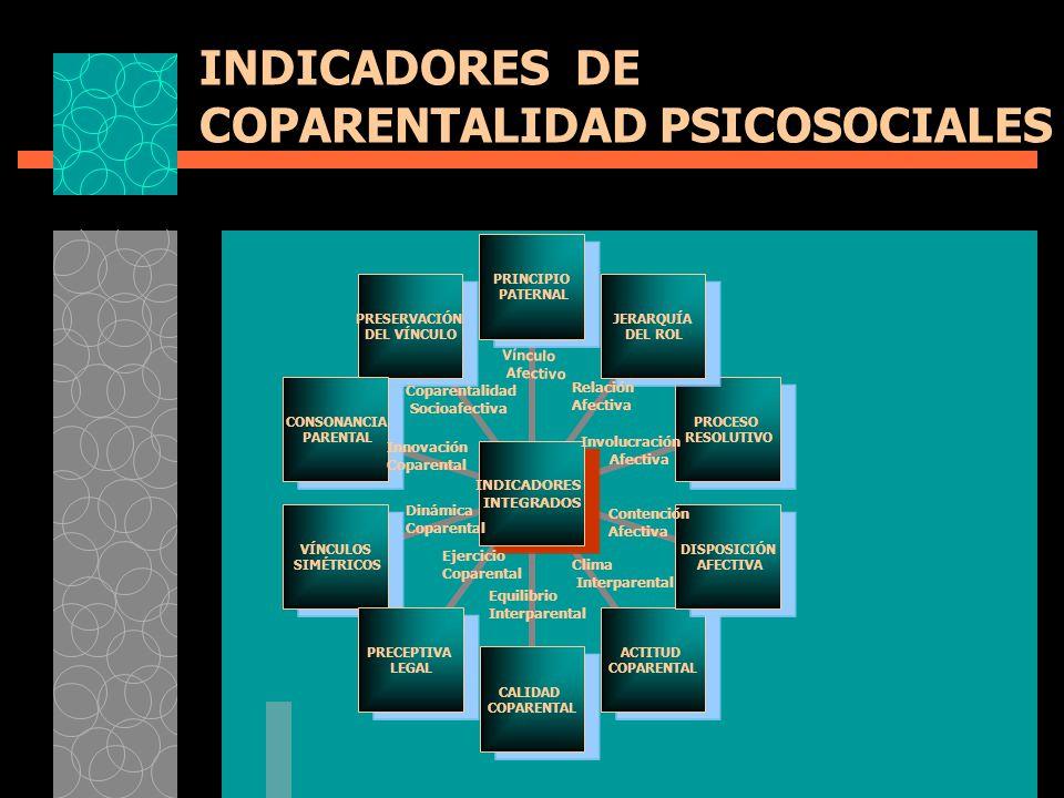 INDICADORES DE COPARENTALIDAD PSICOSOCIALES