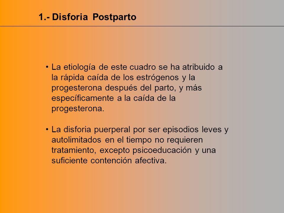 1.- Disforia Postparto